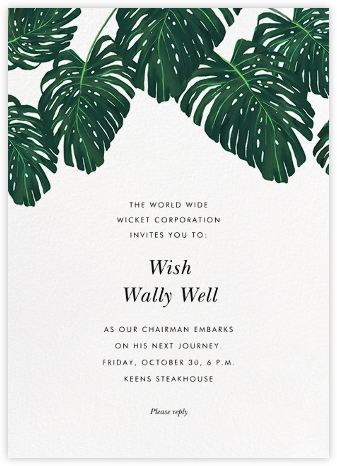 Monstera - Paperless Post - Farewell party invitations