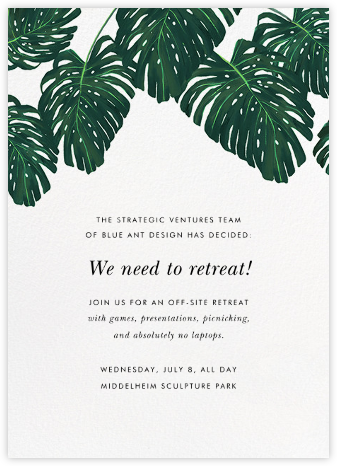 Monstera - Paperless Post - Casual Party Invitations