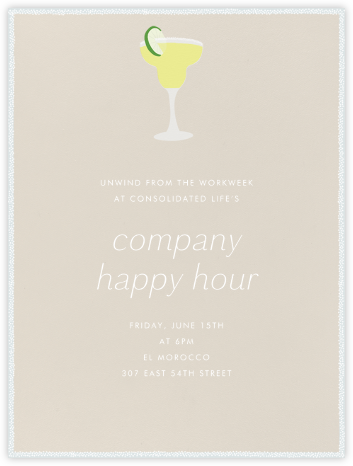 Margarita - Paperless Post - Business Party Invitations