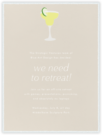 Margarita - Paperless Post - Casual Party Invitations