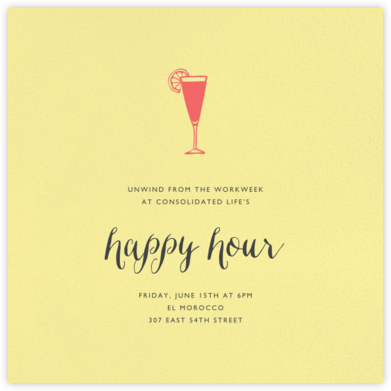 Lemon Drop (Square) - Paperless Post - Happy Hour Invitations