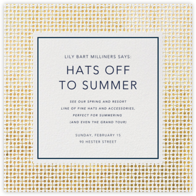 Jacks - Gold - Jonathan Adler - Launch Party Invitations