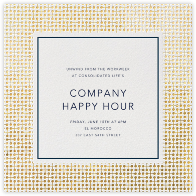 Jacks - Gold - Jonathan Adler - Business Party Invitations