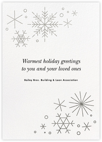No Two Alike - Silver - Paperless Post - Company holiday cards