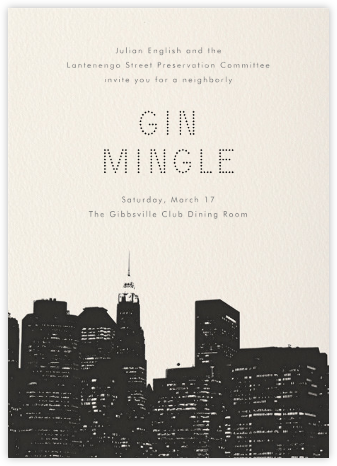 Cityscape - Paperless Post - Casual Party Invitations
