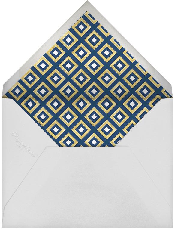 Bobo - Gold and Navy Blue - Jonathan Adler - Dinner and luncheon - envelope back