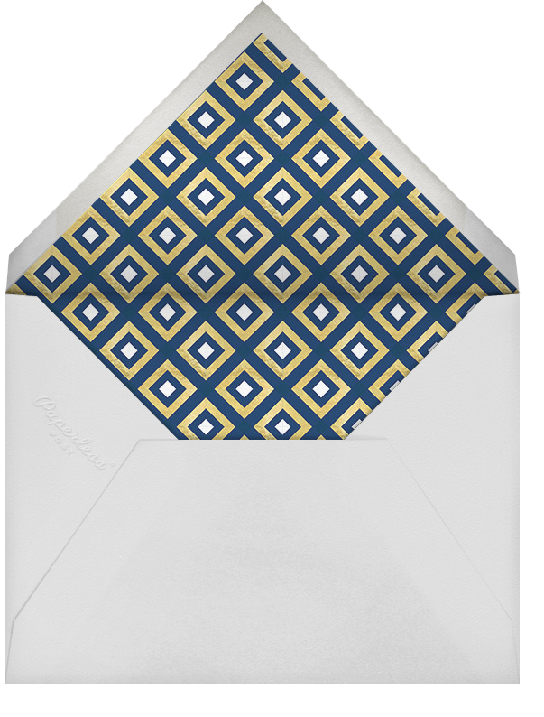 Bobo - Gold and Navy Blue - Jonathan Adler - Winter entertaining - envelope back