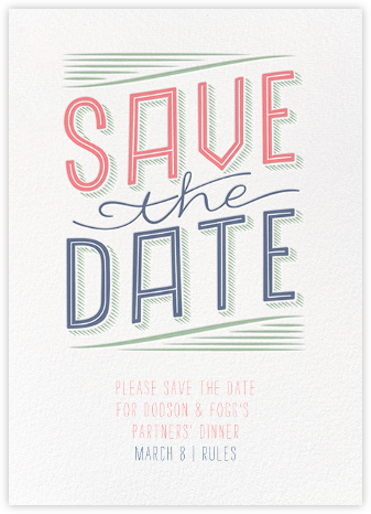 Folksy Save the Date - Crate & Barrel - Business Party Invitations