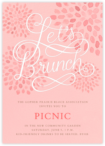 Let's Brunch - Crate & Barrel - Casual Party Invitations