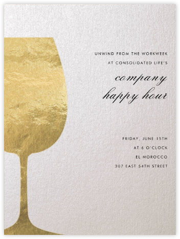Wineglass Foil (Ivory) - Paperless Post - Happy Hour Invitations