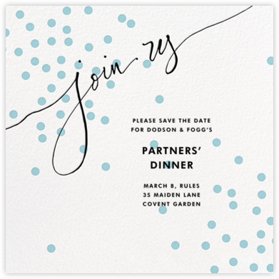 Join Us (Dots) - Blue/Black - Linda and Harriett - Save the dates