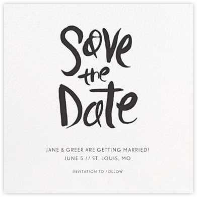 Ink Save The Date - Linda and Harriett - Save the dates