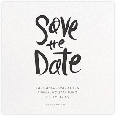 Ink Save The Date - Black - Linda and Harriett - Business Party Invitations