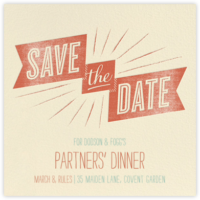 Ribbon Glee - Blood Orange - Crate & Barrel - Event save the dates