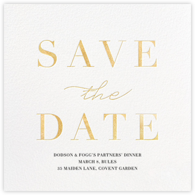 Remnant - Gold - Paperless Post - Save the dates