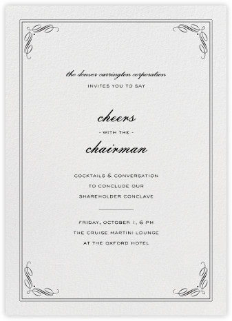 Regency (Tall) - Black - Paperless Post - Business event invitations