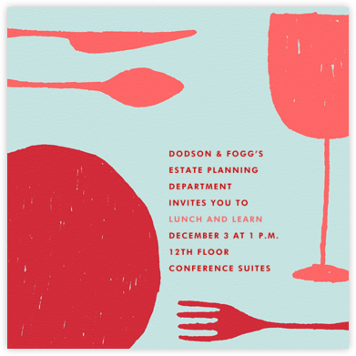 Place Setting (Square) - Red - Paperless Post - Dinner and luncheon