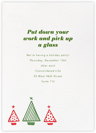 Graphic Christmas Tree - Paperless Post - Business Party Invitations