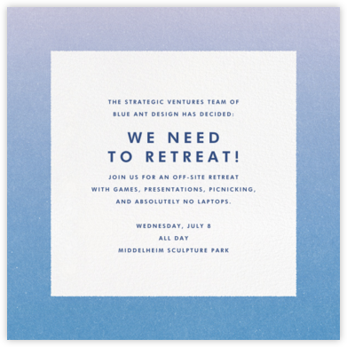 Gradient Border - Blue - Paperless Post - Casual Party Invitations