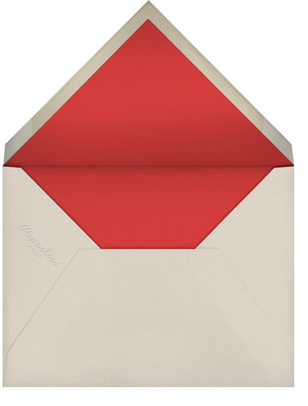 Infographic (Tall) - Red - Paperless Post - Casual entertaining - envelope back