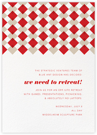 Infographic (Tall) - Red - Paperless Post - Business Party Invitations