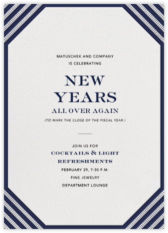 Claridge (Tall) - Navy - Paperless Post - Event invitations