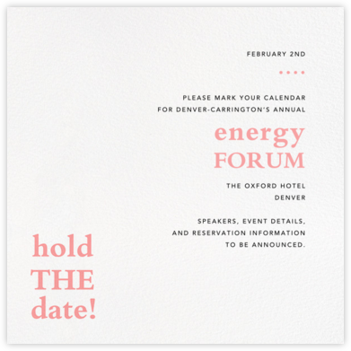 Hold the Date - Paperless Post - Event save the dates