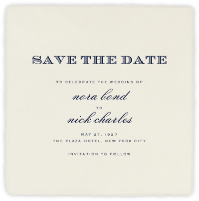 Deckle - Cream Smooth Square - Paperless Post - Event save the dates