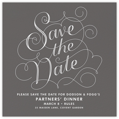 Traditional Fancy - Crate & Barrel - Event save the dates