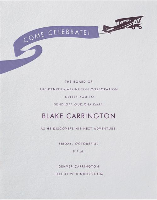 Biplane - Paperless Post - Retirement invitations, farewell invitations