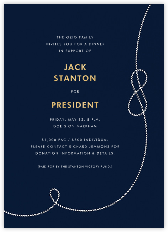 Nautical II (Invitation) - kate spade new york - Charity and fundraiser invitations
