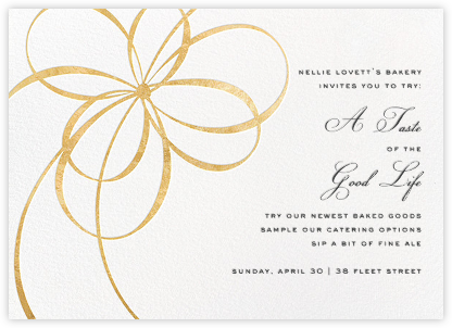Belle Boulevard (Invitation) - Gold - kate spade new york - Fundraiser Invitations