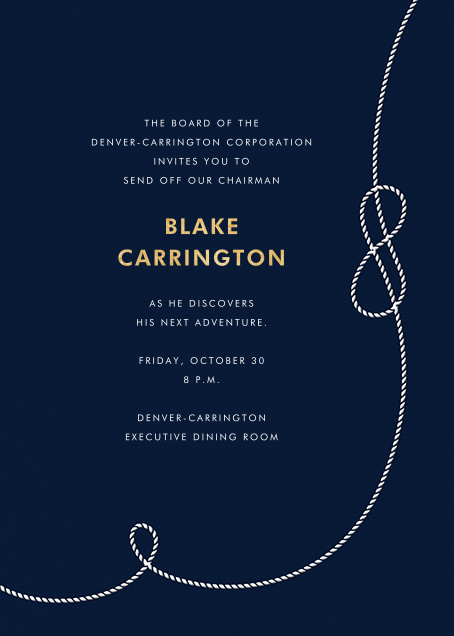 Nautical II (Invitation) - kate spade new york - Retirement invitations, farewell invitations