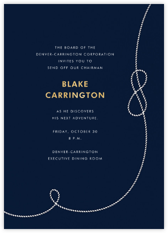 Nautical II (Invitation) - kate spade new york - Retirement invitations, farewell invitations