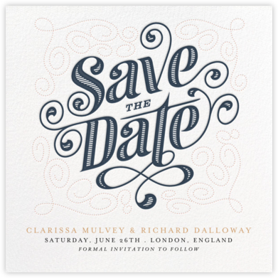 Mercer (Save the Date) - Dusk - Paperless Post - Before the invitation cards