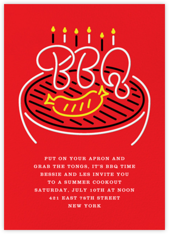 The Grillmeister - Paperless Post - Summer Party Invitations