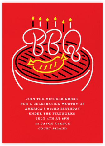 The Grillmeister - Paperless Post - 4th of July invitations