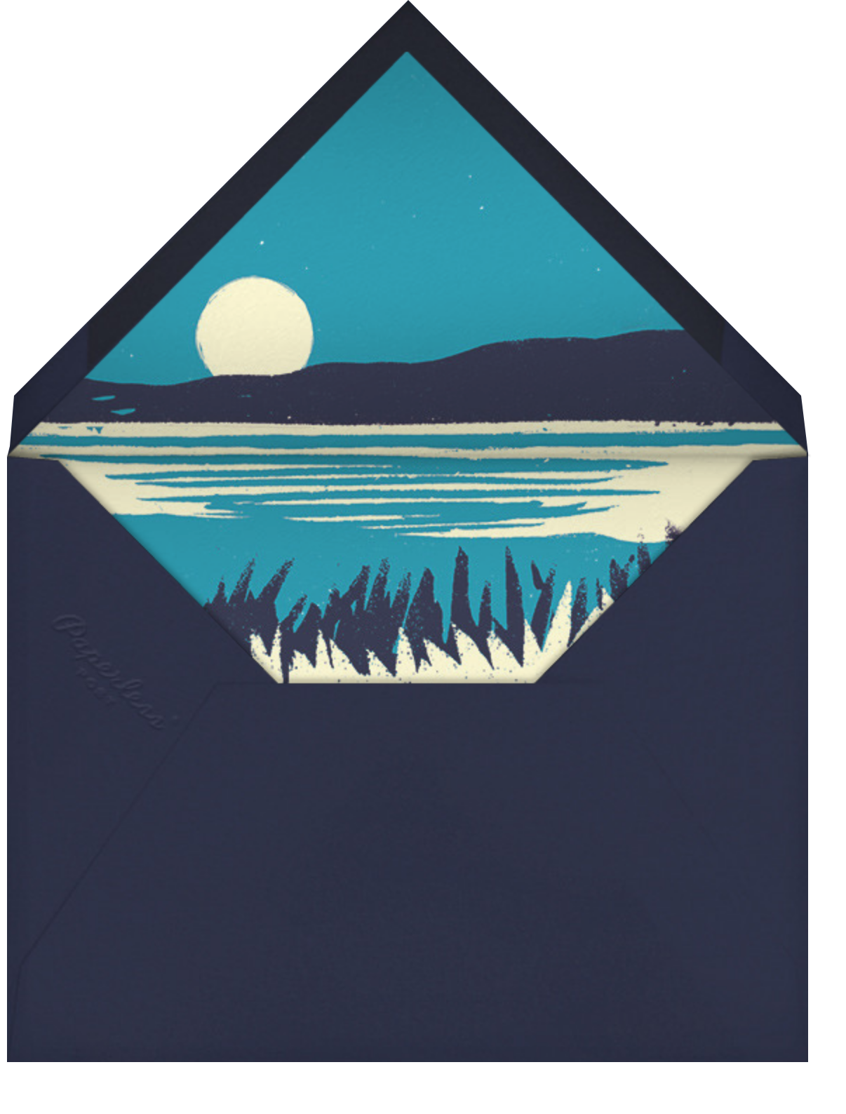 Seaside Fireworks - Paperless Post - Beach party - envelope back