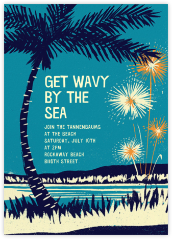 Seaside Fireworks - Paperless Post - Summer Entertaining Invitations