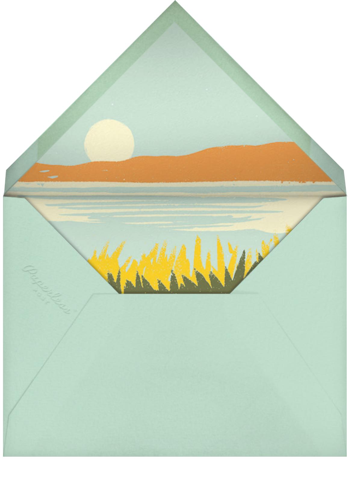 Seaside Sunrise - Paperless Post - Beach party - envelope back