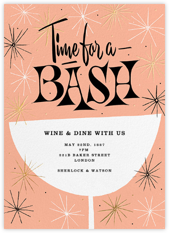 Sparkling and Swinging - Sherbet - Paperless Post - Cocktail party invitations