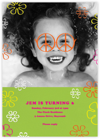 Visions of Peace - Paperless Post - Online Kids' Birthday Invitations