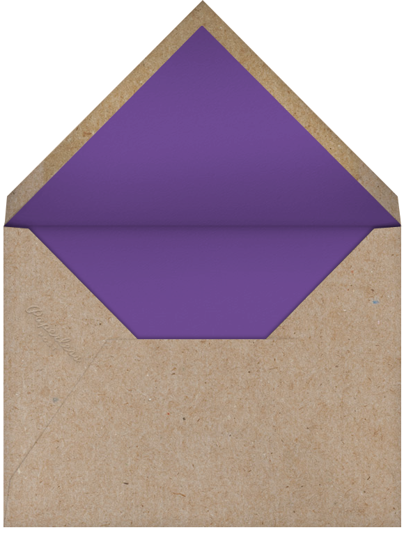 Belvoir (Stationery) - Purple/White - Paperless Post - Personalized stationery - envelope back
