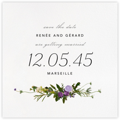 Belvoir (Save the Date) - Purple/White - Paperless Post - Save the dates