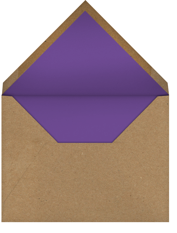 Belvoir (Photo Save the Date) - Purple/White - Paperless Post - Photo  - envelope back