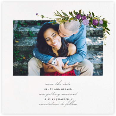 Belvoir (Photo Save the Date) - Purple/White | null