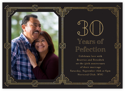 Gilt Border Birthday - Paperless Post - Celebration invitations