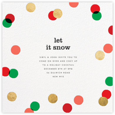 Carnaby - Red/Green - Paperless Post - Holiday invitations
