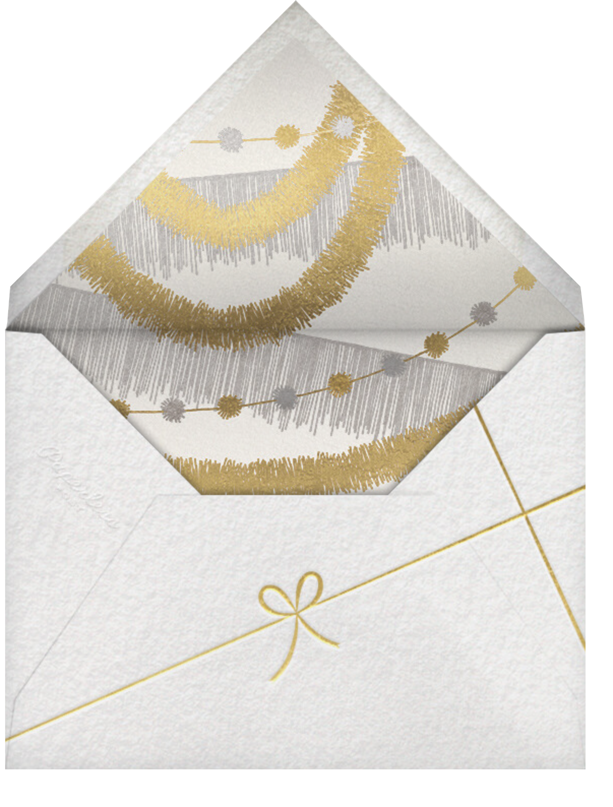 Christmas Finestra (Tall) - White/Gold - Paperless Post - Holiday party - envelope back