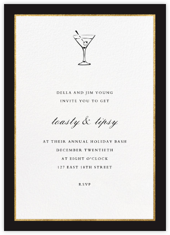 Oro - Black (Tall) - Paperless Post - Holiday invitations